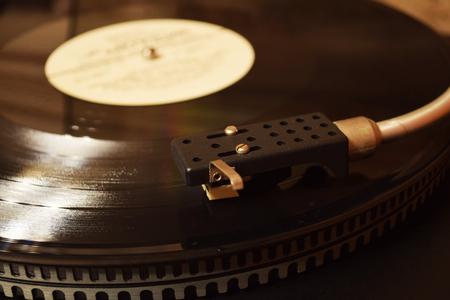Foto für retro vinyl record on the player nostalgia and warm background - Lizenzfreies Bild
