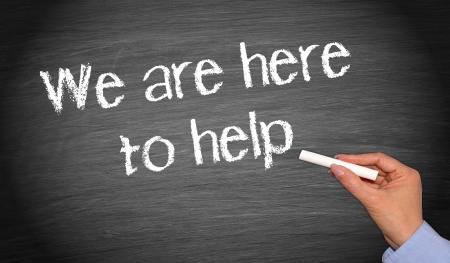 Foto de We are here to help - Imagen libre de derechos
