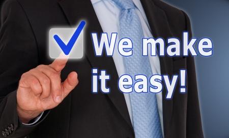 Photo pour We make it easy - image libre de droit