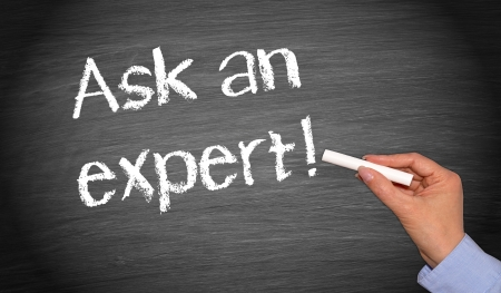 Photo pour Ask an expert - image libre de droit