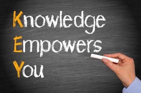 Foto de KEY - Knowledge Empowers You - Imagen libre de derechos