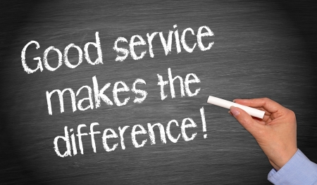 Photo pour Good service makes the difference   - image libre de droit