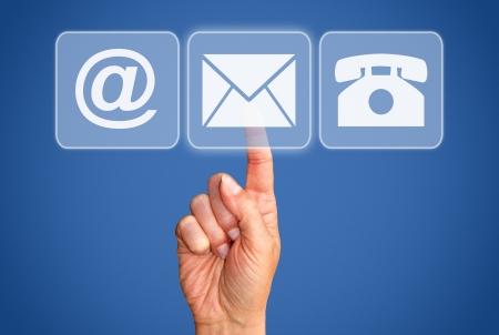 Photo pour Contact Options - Business Concept - image libre de droit