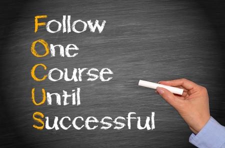 Foto de FOCUS - Business Success Concept - Imagen libre de derechos