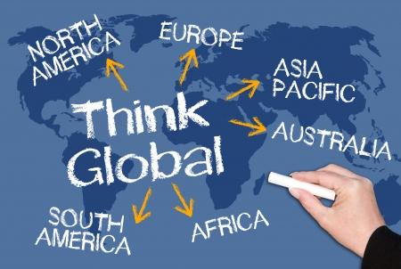 Photo pour Think Global - image libre de droit
