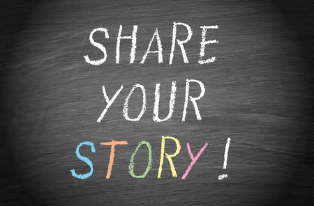 Photo pour Share your Story - image libre de droit