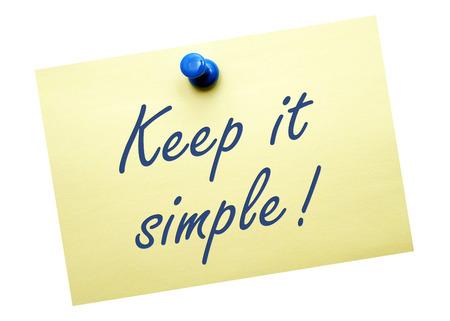Foto de Keep it simple   - Imagen libre de derechos