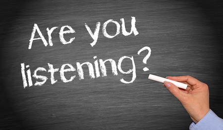 Photo for Are you listening   - Royalty Free Image