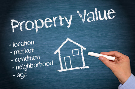 Photo pour Property Value - Real Estate Concept - image libre de droit