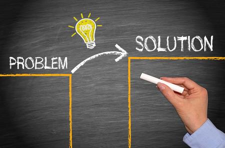Foto de Problem - Idea - Solution - Imagen libre de derechos