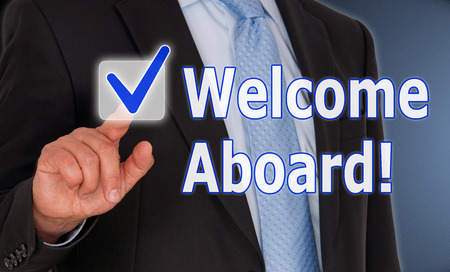 Foto per Welcome Aboard - Immagine Royalty Free