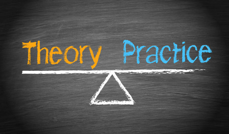Photo for Theory and Practice - Royalty Free Image