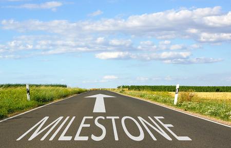 Foto de Milestone - Business Concept - Imagen libre de derechos