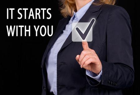 Foto de It starts with you - Imagen libre de derechos
