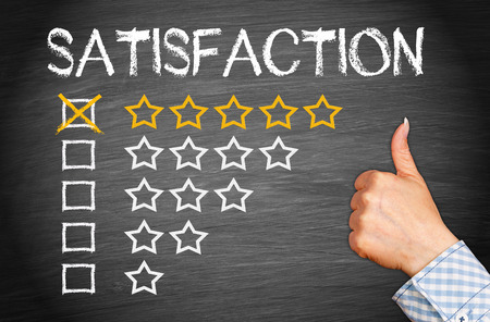 Photo pour Total Satisfaction - Five Stars - image libre de droit