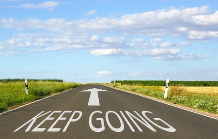 Foto de Keep Going - Business Concept - Imagen libre de derechos