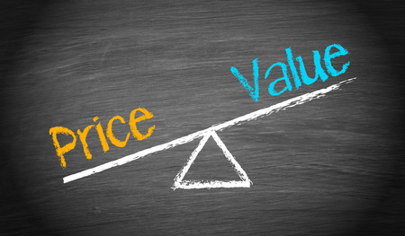 Photo for Price and Value - Finance Concept - Royalty Free Image