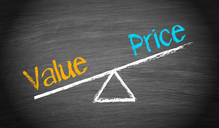 Photo for Value and Price - Balance Concept - Royalty Free Image