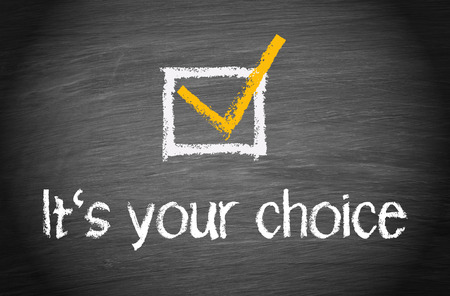 Photo pour It is your choice - image libre de droit