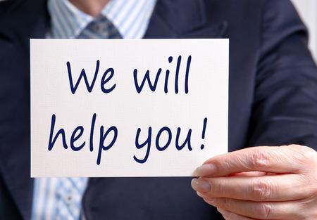 Foto de We will help you ! - Imagen libre de derechos