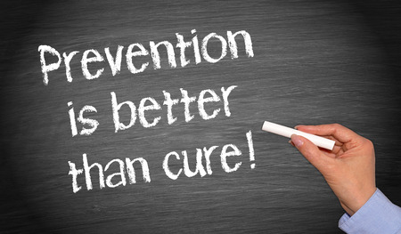 Photo pour Prevention is better than cure - image libre de droit