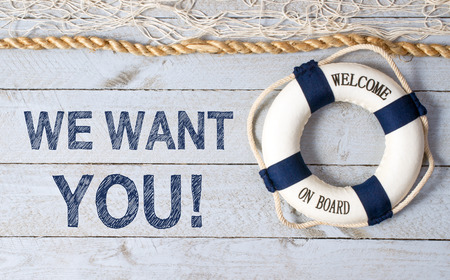 Foto für We want YOU - Welcome on Board - Lizenzfreies Bild