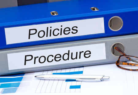 Photo pour Policies and Procedure - image libre de droit