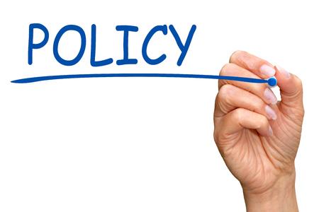 Photo pour Policy - image libre de droit