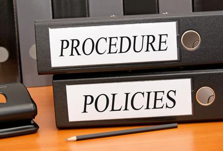 Photo pour Procedure and Policies - image libre de droit