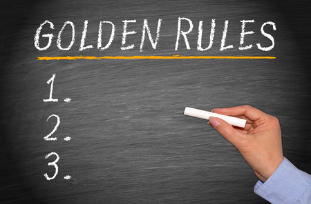 Photo for Golden Rules - Royalty Free Image