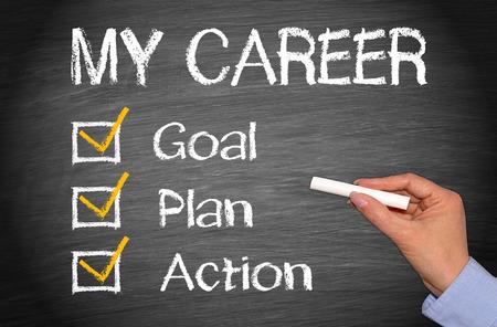 Foto de My Career - Goal Plan Action - Imagen libre de derechos