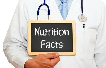Photo pour Nutrition Facts - image libre de droit