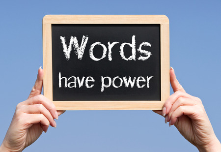 Photo pour Words have power - image libre de droit