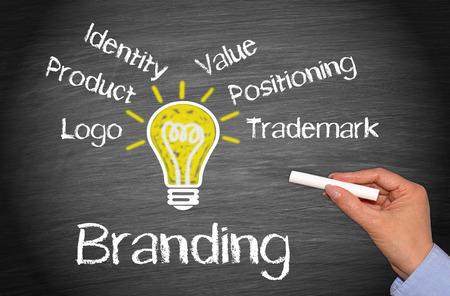 Foto de Branding and Marketing Business Concept - Imagen libre de derechos