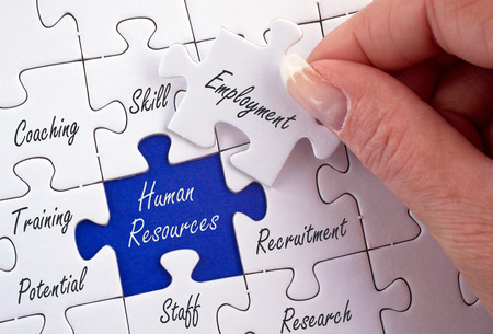 Photo pour Human Resources - Recruitment and Development - image libre de droit