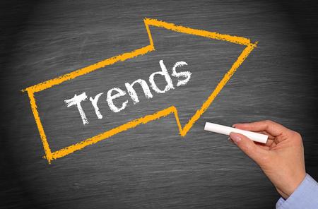 Foto de Trends - arrow with text - Imagen libre de derechos