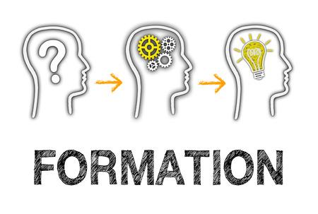 Photo pour Formation and Education Business Concept - image libre de droit