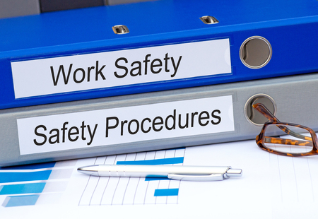 Photo pour Work Safety and Safety Procedures Binder - image libre de droit