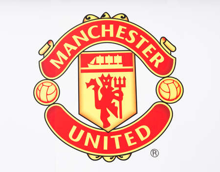 Photo pour Manchester, England - February 27, 2016: Manchester United FC Badge. Taken in Manchester, England. - image libre de droit