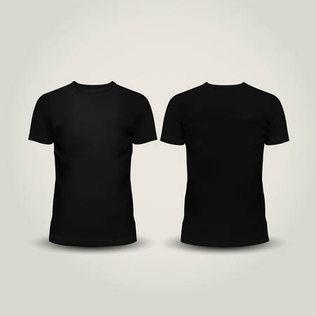Illustration pour Vector illustration of black men T-shirt isolated - image libre de droit