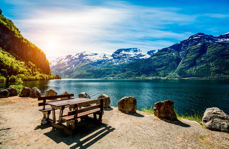 Photo for Beautiful Nature Norway natural landscape. - Royalty Free Image