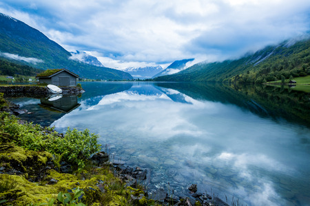Foto de Beautiful Nature Norway natural landscape. - Imagen libre de derechos