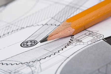 Photo for Drawing detail and pencil close-up - Royalty Free Image