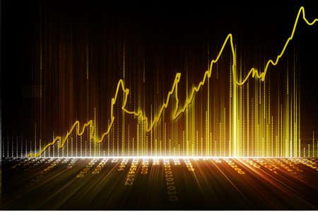 Photo pour stock exchange graph - image libre de droit
