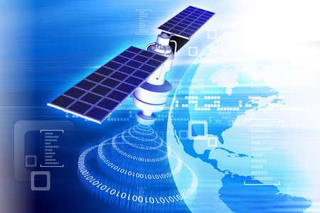 Photo pour satellite  at the Earth orbit - image libre de droit