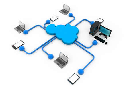 Photo pour Cloud computing devices - image libre de droit