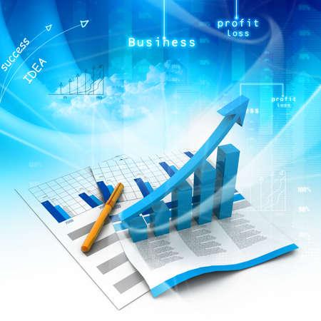 Foto de Business graph - Imagen libre de derechos