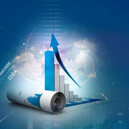 Photo pour Business graph - image libre de droit