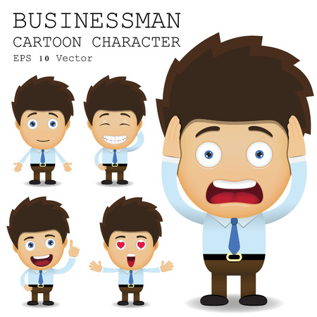 Illustration for Businessman cartoon character - Royalty Free Image