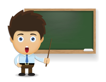 Illustration pour teacher cartoon character  - image libre de droit